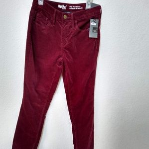 Nwt Burgundy Mossimo Velvet Pants Stetch Knit